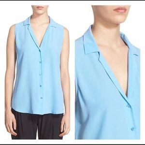 Equipment Adalyn sleeveless blouse Parisian Blue
